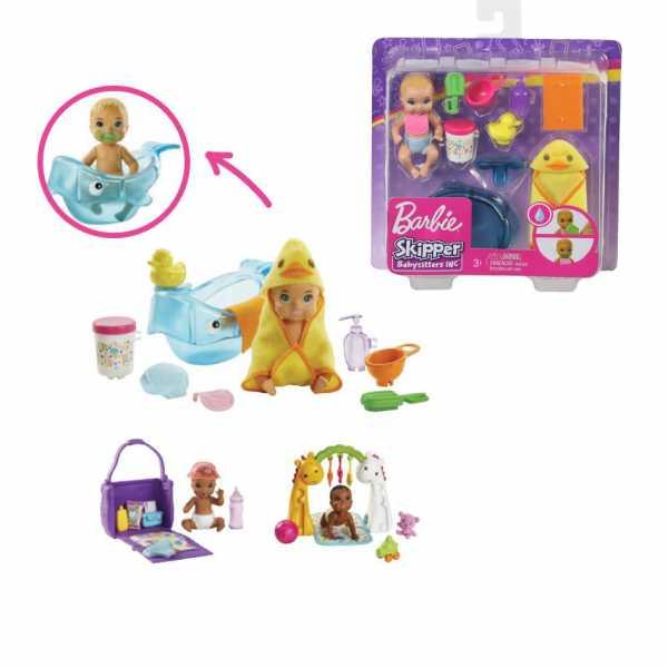 Barbie- Skipper Teneri Bebè Playset Pappa E Cambio Pannolino, Bambola Con Accessori, Giocattolo Per Bambini 3+ Anni, Multicolore, GHV86