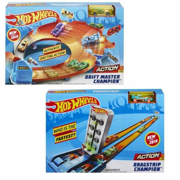 Hot Wheels - Drift Master Champion Playset Pista Con 1 Macchinina Inclusa, Giocattolo Per Bambini 4+ Anni, GBF84