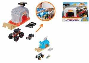 Hot Wheels - Garage Lanciatore Bone Shaker Con Veicolo Monster Truck E Macchinina Hot Wheels, 4+ Anni, GKY02