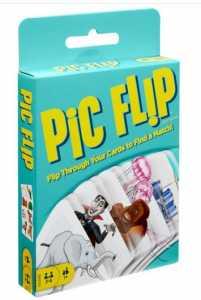 Mattel PIC Flip, 110 Carte Da Gioco Da Abbinare Fra Loro, Giocattolo Per Bambini 7+ Anni, GKD70