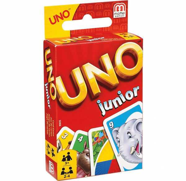 UNO Junior, Gioco Di Carte, Mattel Games, 52456