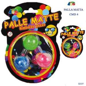 Set 3 PALLE MATTE MULTICOLORE 4 CM - Ginmar (32137)