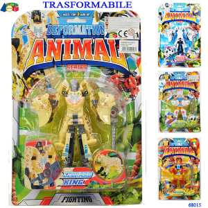 TRASFORMABILE ROBOT ANIMALE 10 CM - Ginmar (68015)