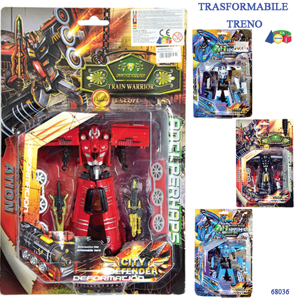 ROBOT TRASFORMABILE TRENO 15 CM - Ginmar (68036)